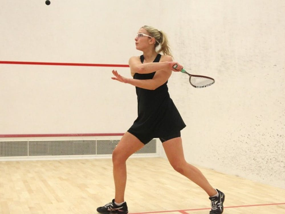 Isabel Hirshberg helped lead women's squash to consecutive 9-0 wins this weekend