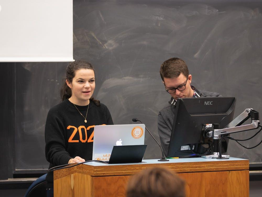 Olivia Ott '20 and Ben Press '20. Photo Credit: Brad Spicher '20 / USG