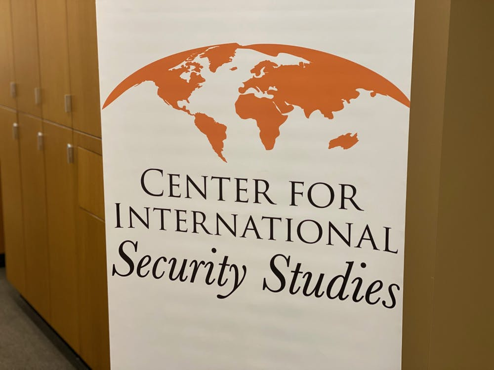 <p>Banner featuring the Center for International Security Studies logo.&nbsp;</p> <h6>Photo Credit: Zachary Shevin / The Daily Princetonian</h6>