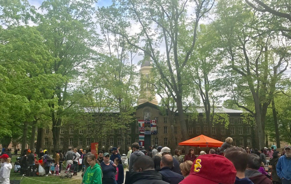 <h6>Community members gather in front of Nassau Hall during Communiversity 2019</h6> <h6>Source: Claire Silberman/The Daily Princetonian</h6>