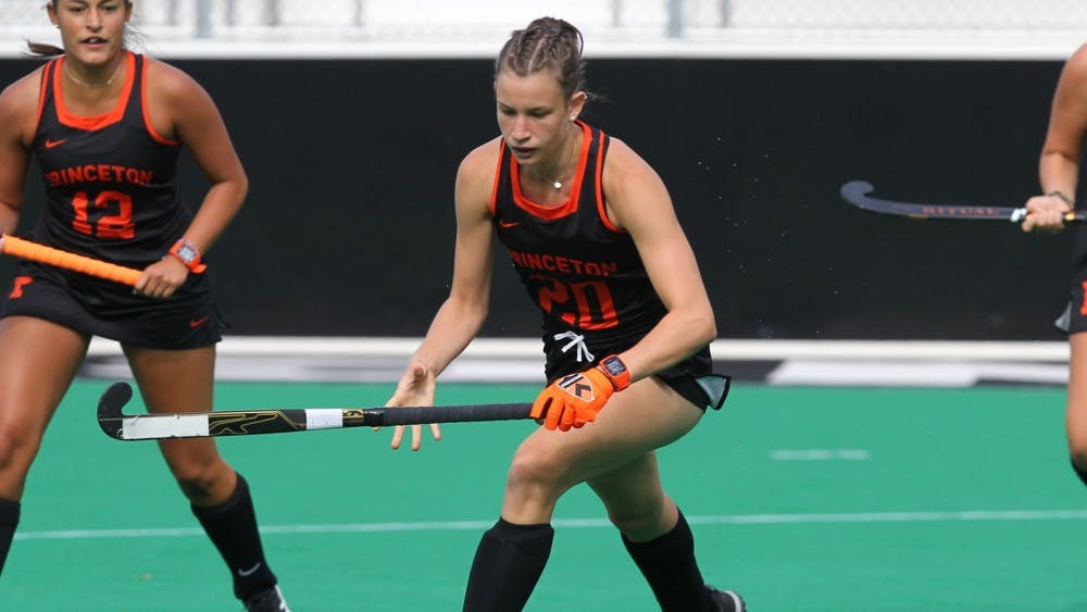 <p>Junior Clara Roth registered both goals in the Tigers' win over Penn State.</p> <h6>Photo Credit: Beverly Schaefer, GoPrincetonTigers</h6>