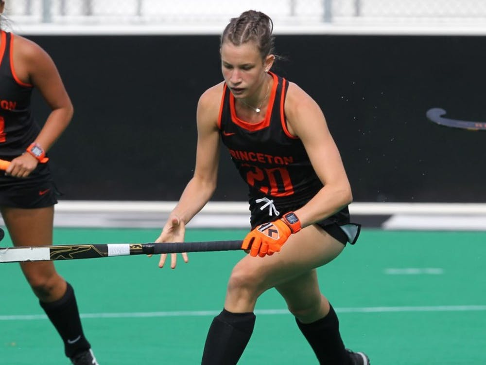 Junior Clara Roth registered both goals in the Tigers' win over Penn State. Photo Credit: Beverly Schaefer, GoPrincetonTigers
