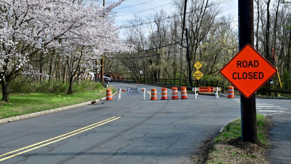 Construction work on Alexander Road last April. Photo Credit: Jon Ort / The Daily Princetonian