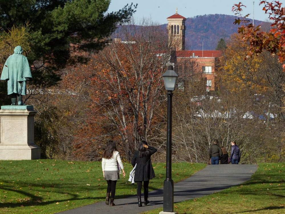 """Students walking around Amherst College """"Walking around Amherst College"""" by Office of Communications, Amherst College / CC BY-ND 2.0"""