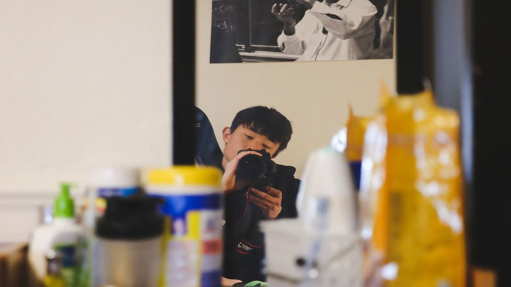 "As the anonymous @lonelycovidtiger, Jeongmin ""JM"" Cho '21 spent the last two months documenting on-campus life amid the pandemic. Photo by Jeongmin Cho '21"