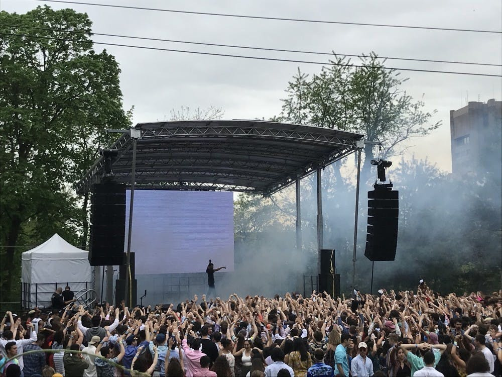 <p>Vince Staples performs at spring Lawnparties 2018</p> <p>Photo credit: Risa Gelles-Watnick / The Daily Princetonian</p>