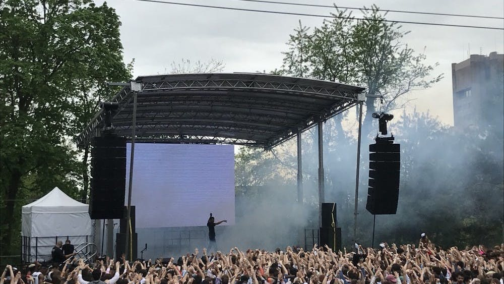 Vince Staples performs at spring Lawnparties 2018 Photo credit: Risa Gelles-Watnick / The Daily Princetonian