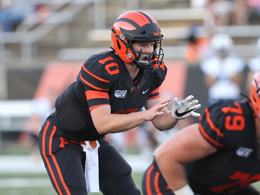 Senior quarterback Kevin Davidson. Courtesy of Princeton Athletics.