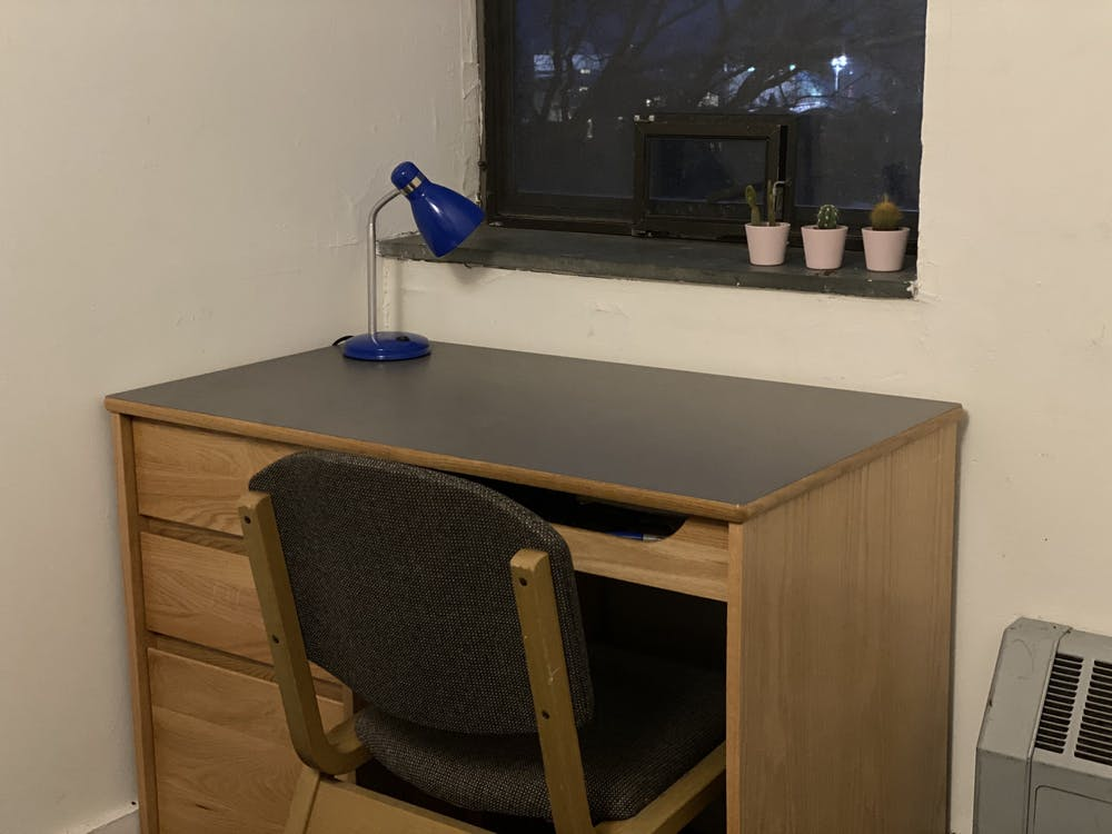 A dorm room in Wilson College: Zachary Shevin / The Daily Princetonian