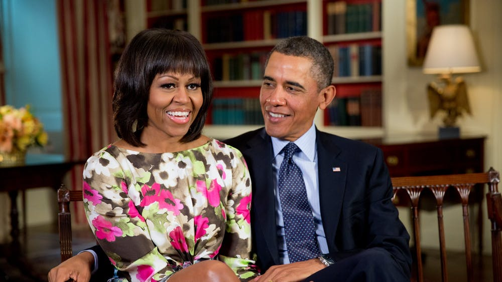Barack and Michelle Obama '85 received the first and second most votes, respectively. Photo Credit: Pete Souza / Wikimedia Commons