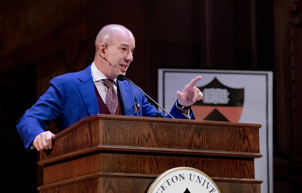 <p>Anthony Romero '87 speaks at Alumni Day on Feb. 22.</p> <h6>Photo Courtesy of the Office of Communications.</h6>