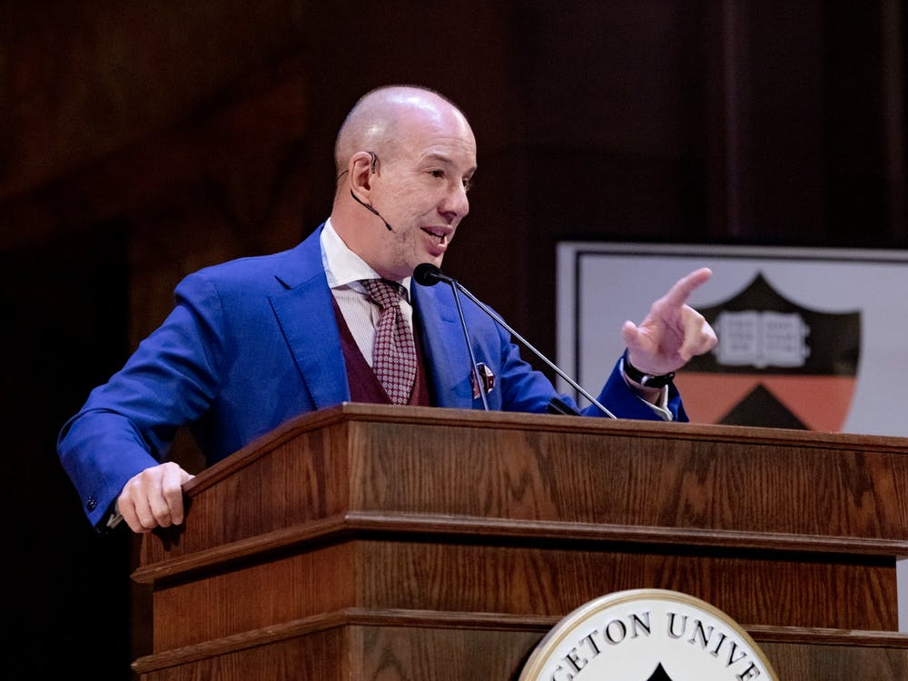Anthony Romero '87 speaks at Alumni Day on Feb. 22. Photo Courtesy of the Office of Communications.