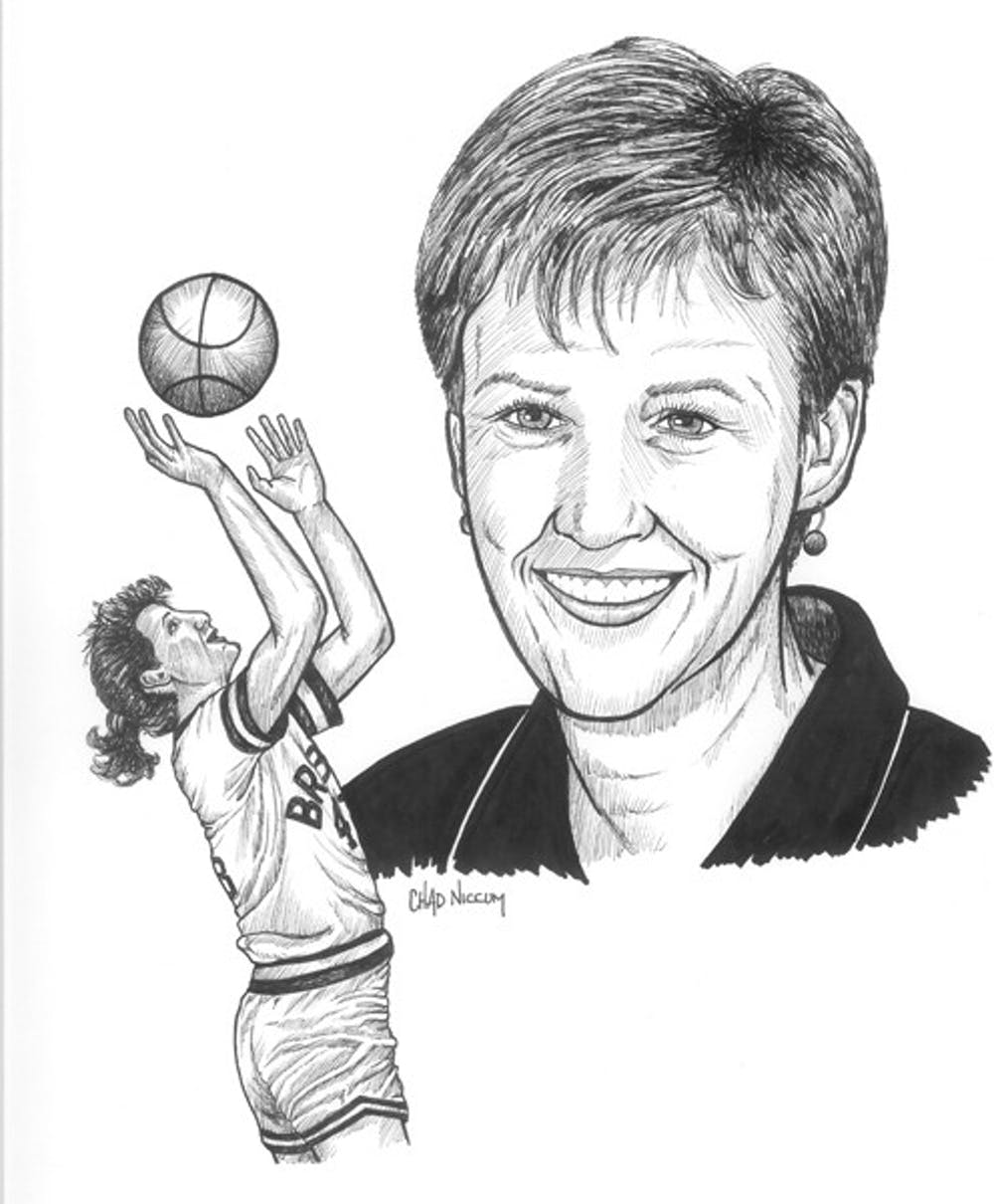 <p>Ellen DeVoe '86.</p> <h6>Photo courtesy of the Indiana Basketball Hall of Fame</h6>