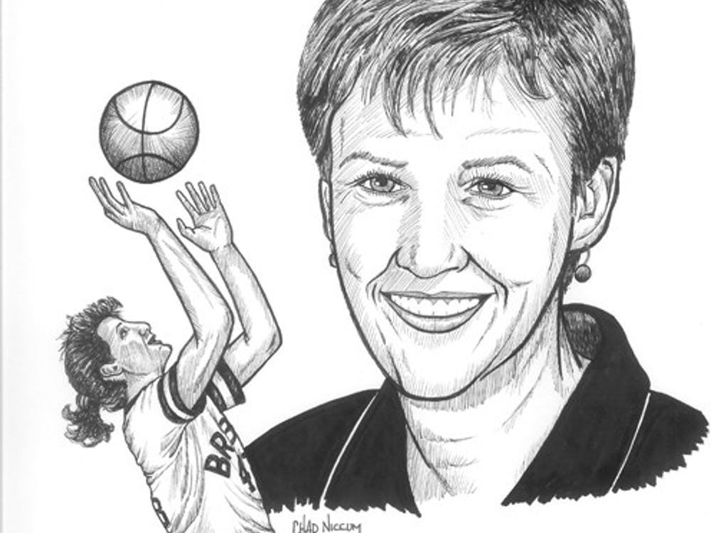 Ellen DeVoe '86. Photo courtesy of the Indiana Basketball Hall of Fame