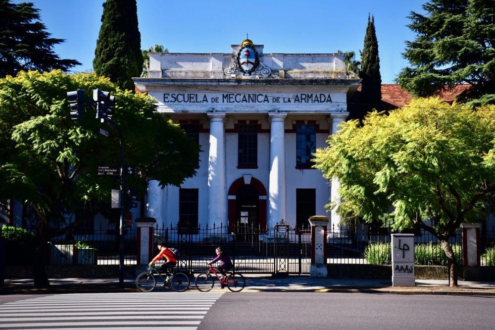 <p>A pedestrian view of the Navy School of Mechanics in Buenos Aires.</p> <h6>Photo Credit: Jon Ort / The Daily Princetonian</h6>