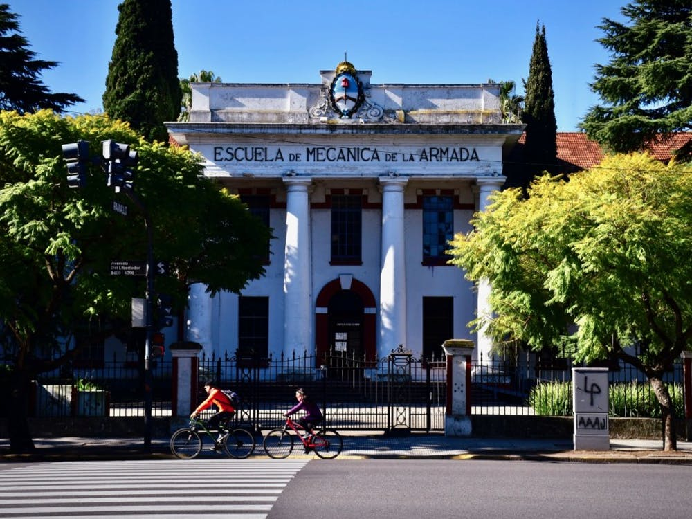 A pedestrian view of the Navy School of Mechanics in Buenos Aires. Photo Credit: Jon Ort / The Daily Princetonian