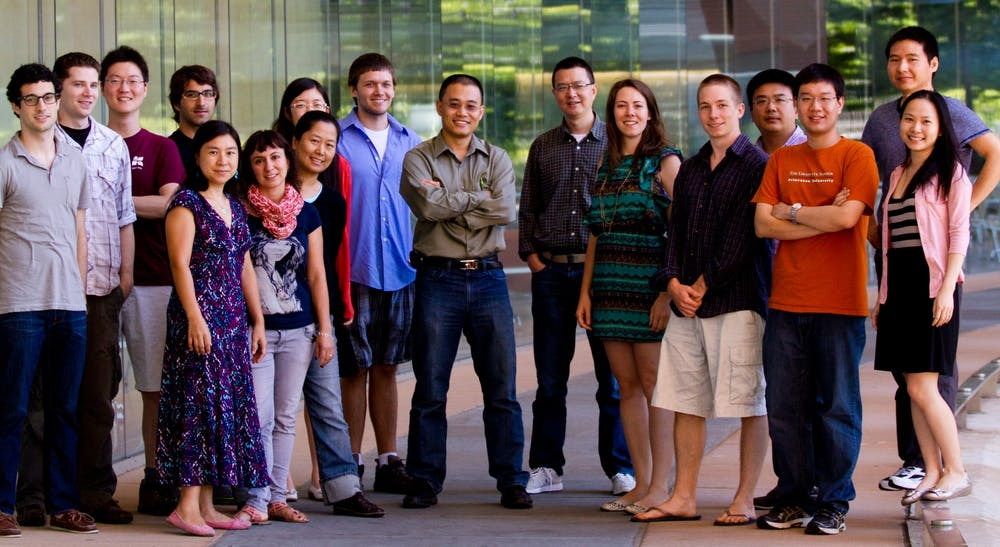 <h5>Professor Yibin Kang and his lab group. Professor Kang is located in the center, and Mark Esposito is located fifth from the right.   </h5><h6>Courtesy of Maša Alečković </h6>