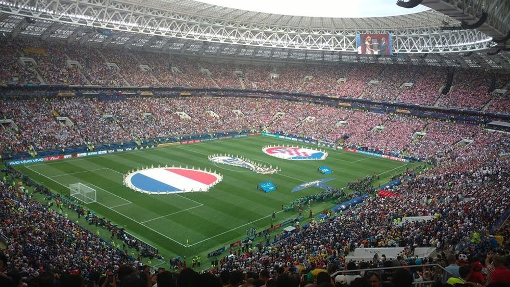 "<h6>Photo Courtesy of <a href=""https://commons.wikimedia.org/wiki/File:2018_World_Cup_Final_-_France_v_Croatia.jpg"" target=""_self"">Wikimedia Commons</a></h6>"