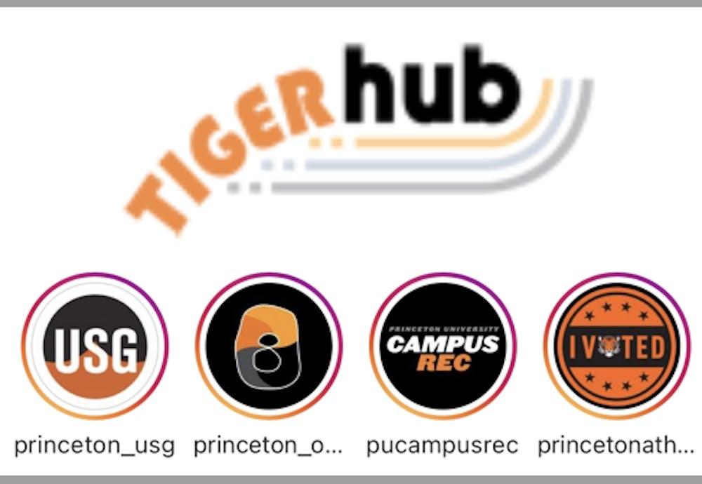 <p>A photo of the new TigerHub interface.</p>