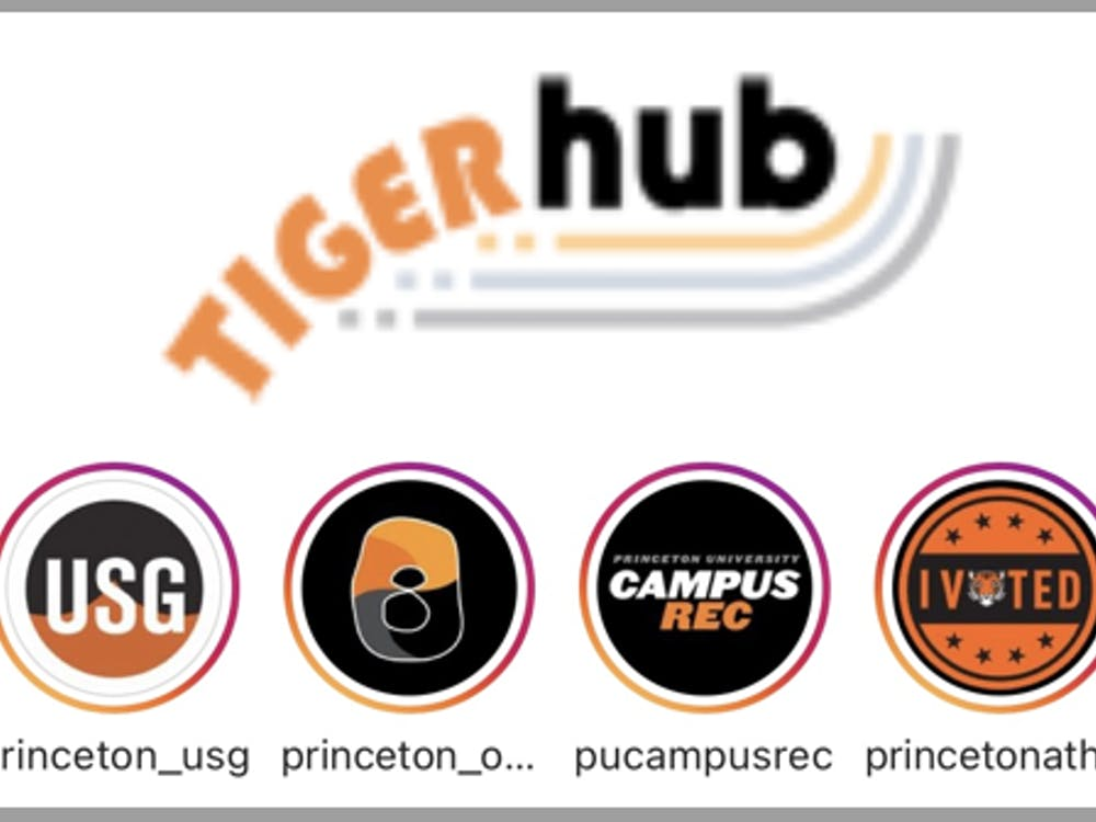 A photo of the new TigerHub interface.
