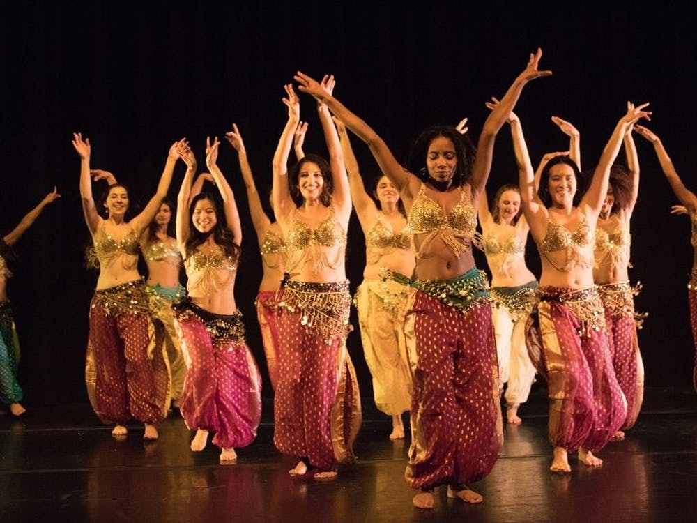 Raqs, the Princeton belly dancing company, performing in their winter show. Photos by Avanthi Cole