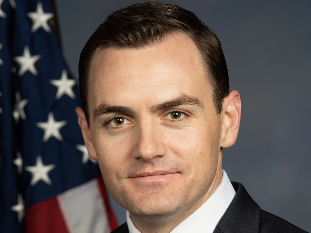 U.S. Rep. Mike Gallagher '06 sat for a Congressional portrait. Courtesy of Mike Gallagher Congressional website