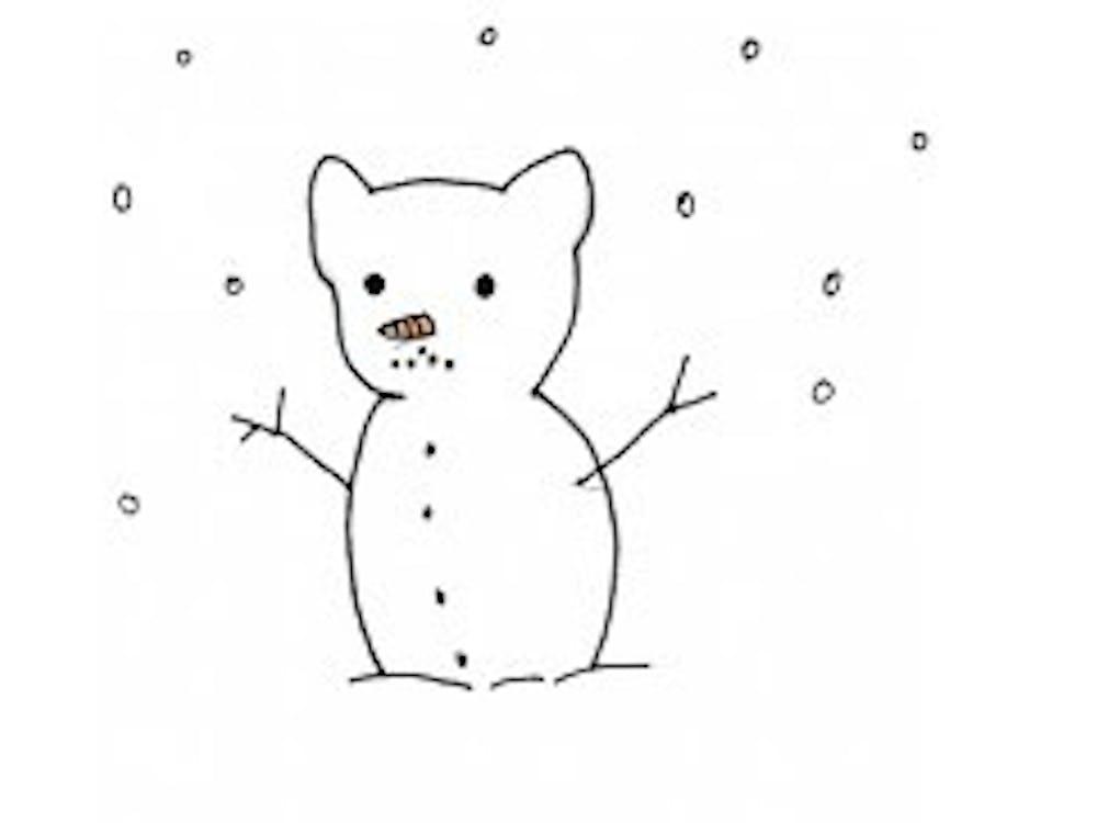 snowman snowing snow snowflake tiger snowtiger