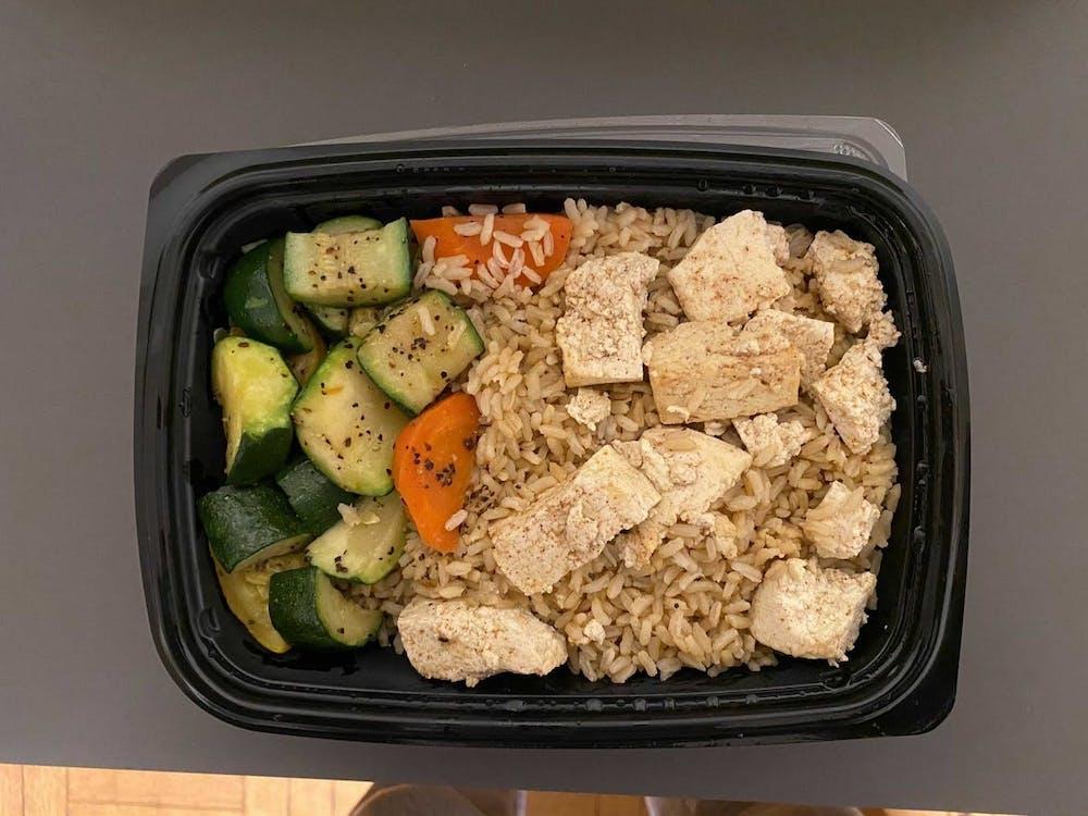<h5>An arrival quarantine vegan meal — tandoori tofu cutlet.&nbsp;</h5> <h6>Etiosa Omeike / The Daily Princetonian</h6>