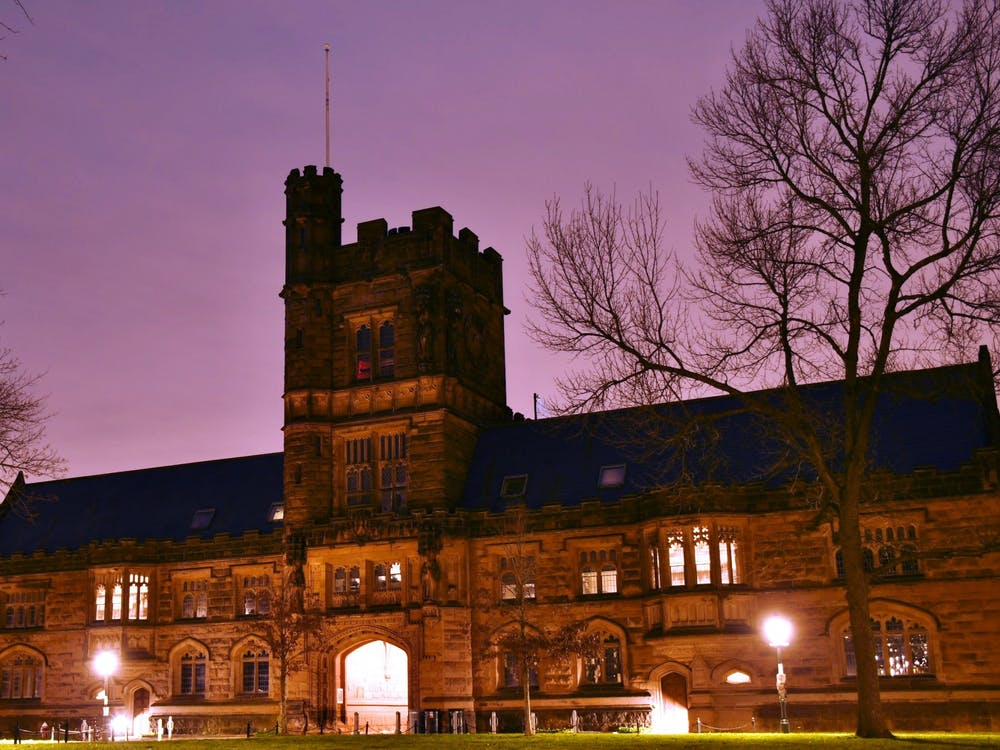 East Pyne Hall, home to Princeton's classics department, at dusk. Jonathan Ort / The Daily Princetonian