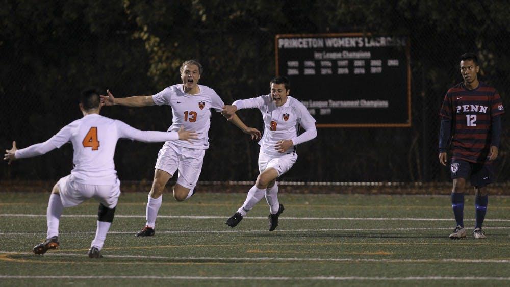 Princeton University men's soccer vs. Penn, Princeton, NJ, November 3, 2018.