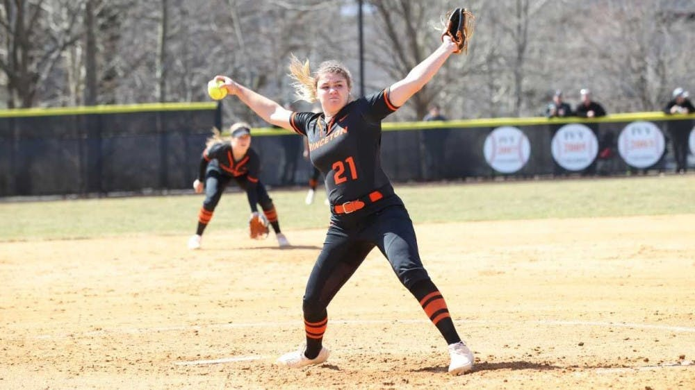 Ali Blanchard threw nine scoreless innings to clinch a series win for Princeton Saturday. Photo Credit: Beverly Schaefer / GoPrincetonTigers.com