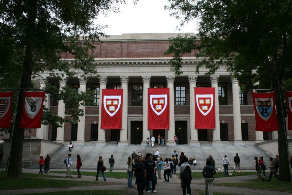 <h5>Harvard University's campus.</h5> <h6>Joseph Williams / Wikimedia Commons</h6>