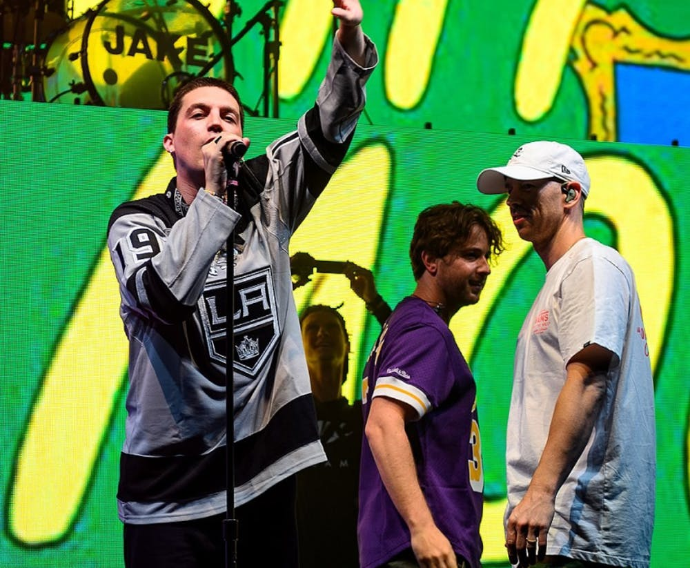 """<h5>LANY performing live at the Shrine Expo Hall in Los Angeles, California, on Friday, June 28, 2019.</h5> <h6><a href=""""https://www.flickr.com/people/39400957@N03"""" rel=""""nofollow"""">Justin Higuchi</a> / CC BY 2.0</h6>"""