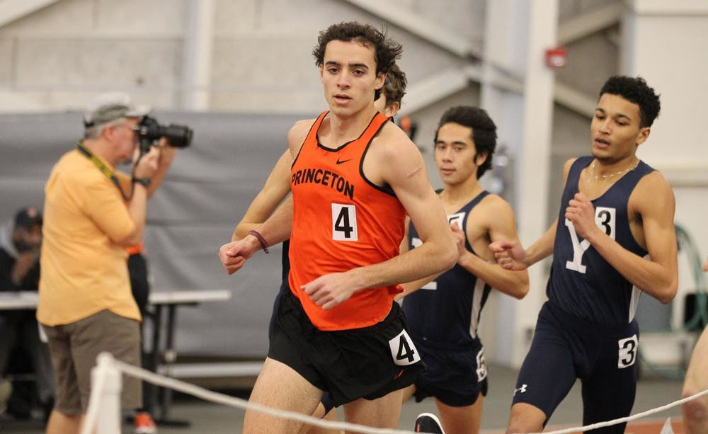 <p>Junior Sam Ellis broke the school record for the mile with his finish at 3:57.66. Photo courtesy of Princeton Athletics</p>