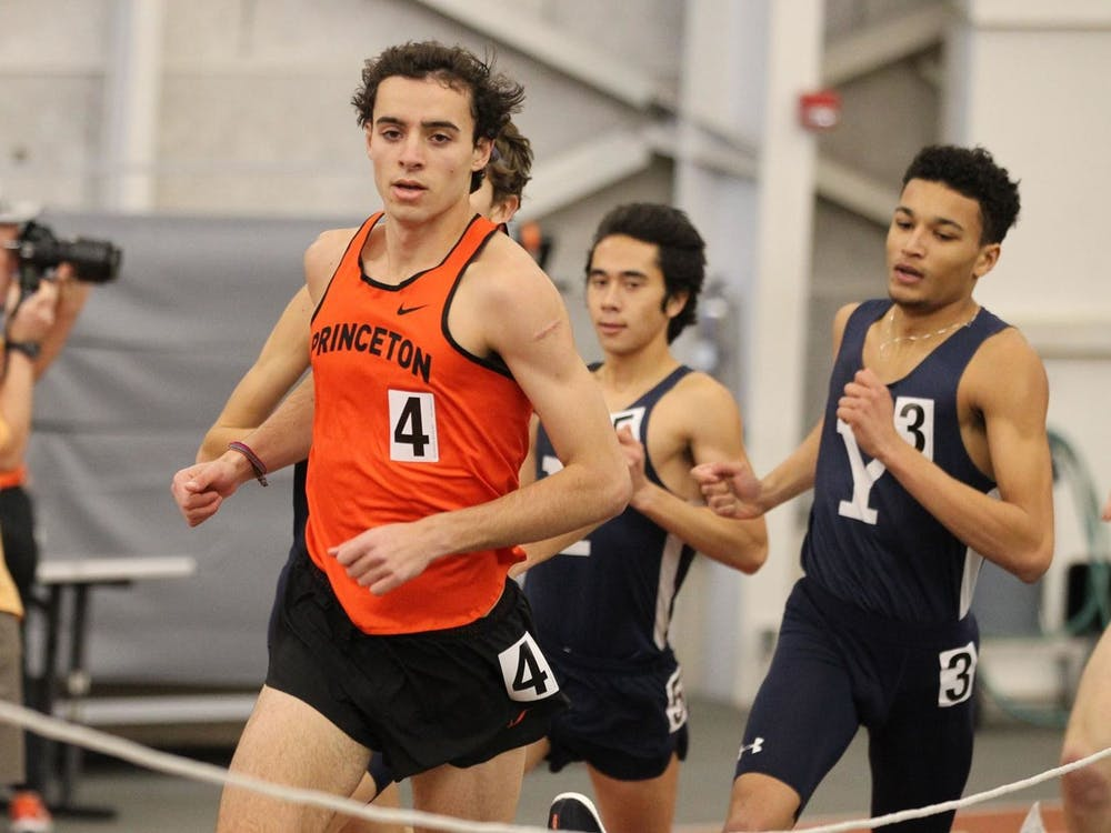 Junior Sam Ellis broke the school record for the mile with his finish at 3:57.66. Photo courtesy of Princeton Athletics