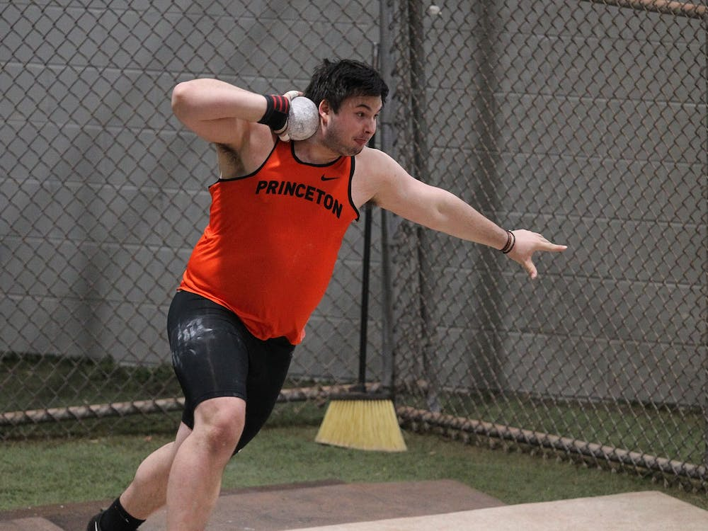Kelton Chastulik '21 during a track meet. Beverly Schaefer / goprincetontigers.com