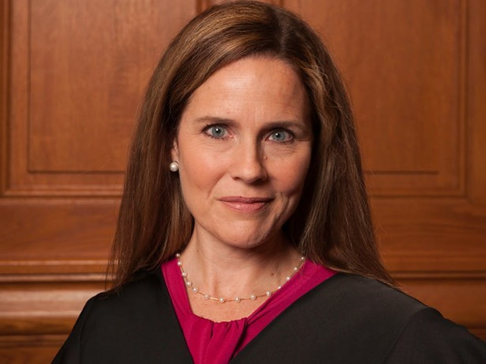 Amy Coney Barrett in 2018 via Wikimedia
