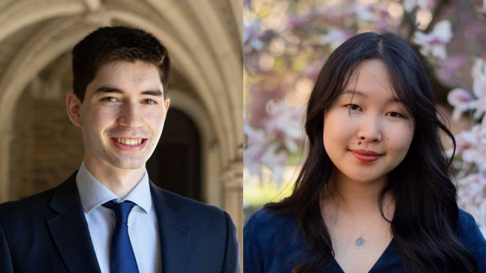 Taishi Nakase '21 and Lucy Wang '21, who have been named valedictorian and salutatorian of the Class of 2021. Office of Communications