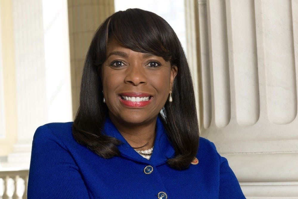 "<h5>U.S. Rep. Terri Sewell '86 posed for a Congressional portrait.</h5> <h6>Terri Sewell Congressional <a href=""https://sewell.house.gov/meet-terri/press-kit"" target=""_self"">website</a></h6>"