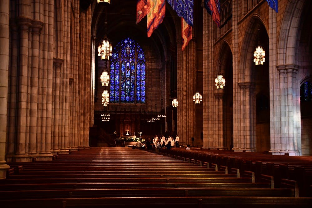 <p>The interior of the Princeton University Chapel.</p> <h6>Photo Credit: Jon Ort / The Daily Princetonian</h6>