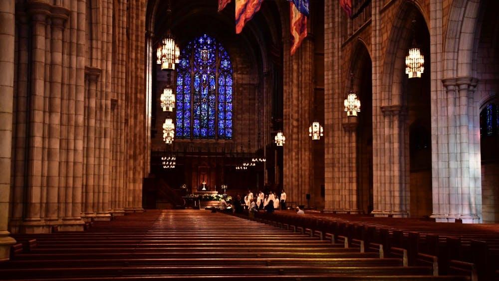 The interior of the Princeton University Chapel. Photo Credit: Jon Ort / The Daily Princetonian