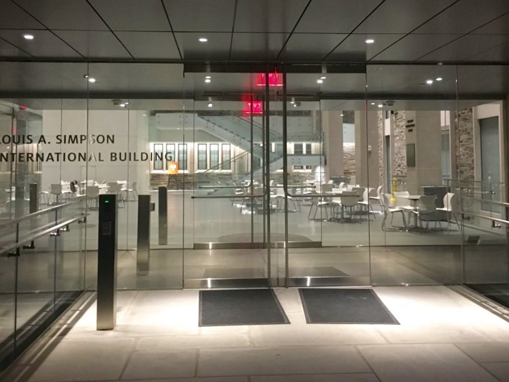 The Louis A. Simpson International Building, which houses OIP and IIP. Marie-Rose Sheinerman / The Daily Princetonian