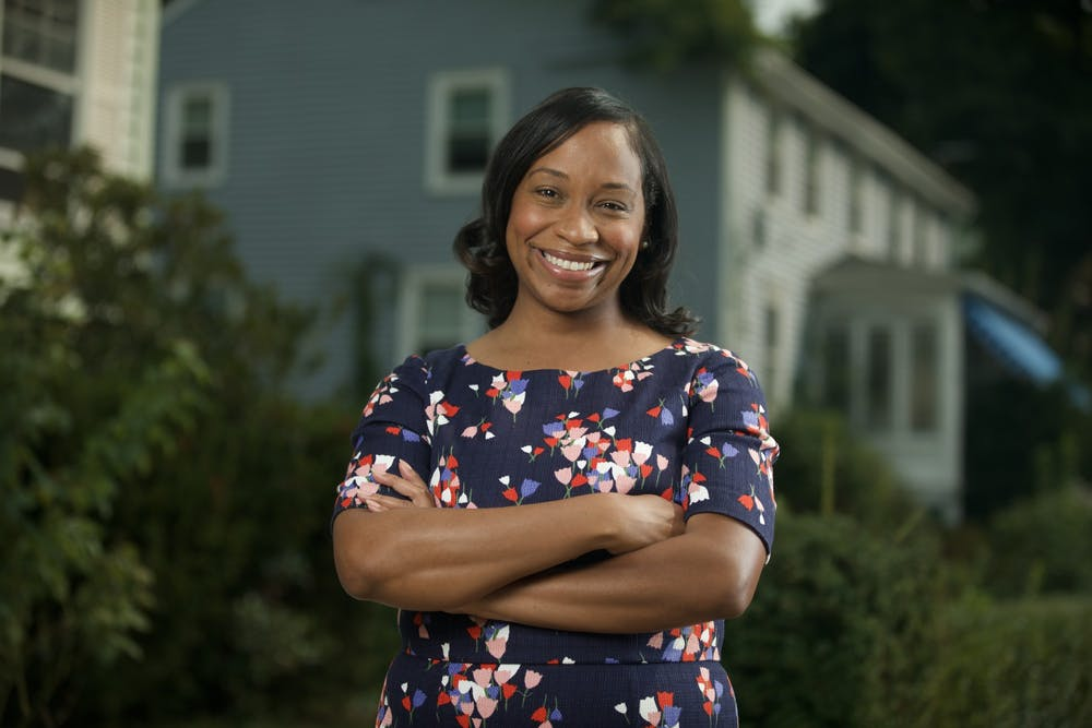 <h5>Andrea Campbell '04 is running for Mayor of Boston.</h5> <h6>Courtesy of Andrea Campbell Press Team</h6>