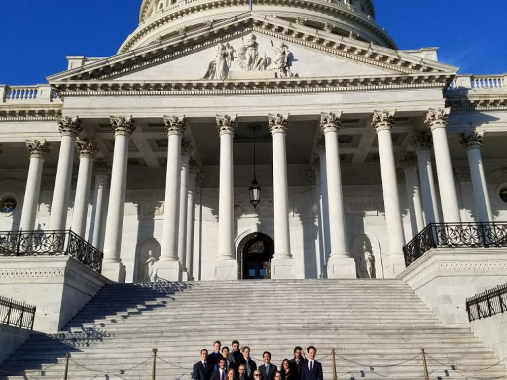 Graduate students visited Capitol hill in advocacy trip.