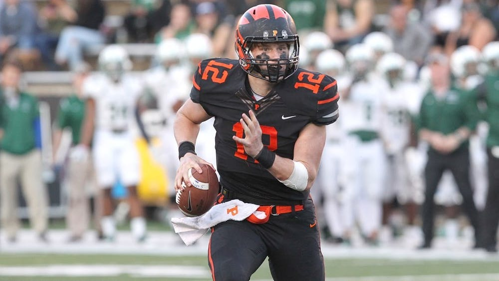 <p>John Lovett during a comeback victory against Dartmouth.</p> <h6>Photo Courtesy of Beverly Schaefer / Princeton Athletics</h6>