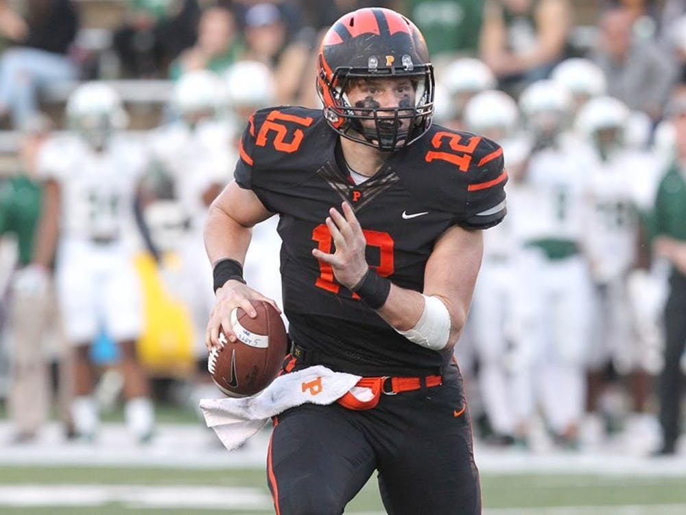 John Lovett during a comeback victory against Dartmouth. Photo Courtesy of Beverly Schaefer / Princeton Athletics