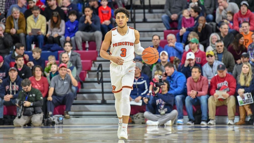 <h5>Devin Cannady '20 helped the Tigers win the Ivy League Tournament in 2017.&nbsp;</h5> <h6>Courtesy of GoPrincetonTigers</h6>