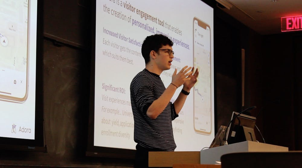 <p>Ron Miasnik '22 is the CEO of Adora Experiences, which was awarded $6,000 for a self-guided tour app.</p> <h6>Photo Courtesy of the Princeton E Club&nbsp;</h6>