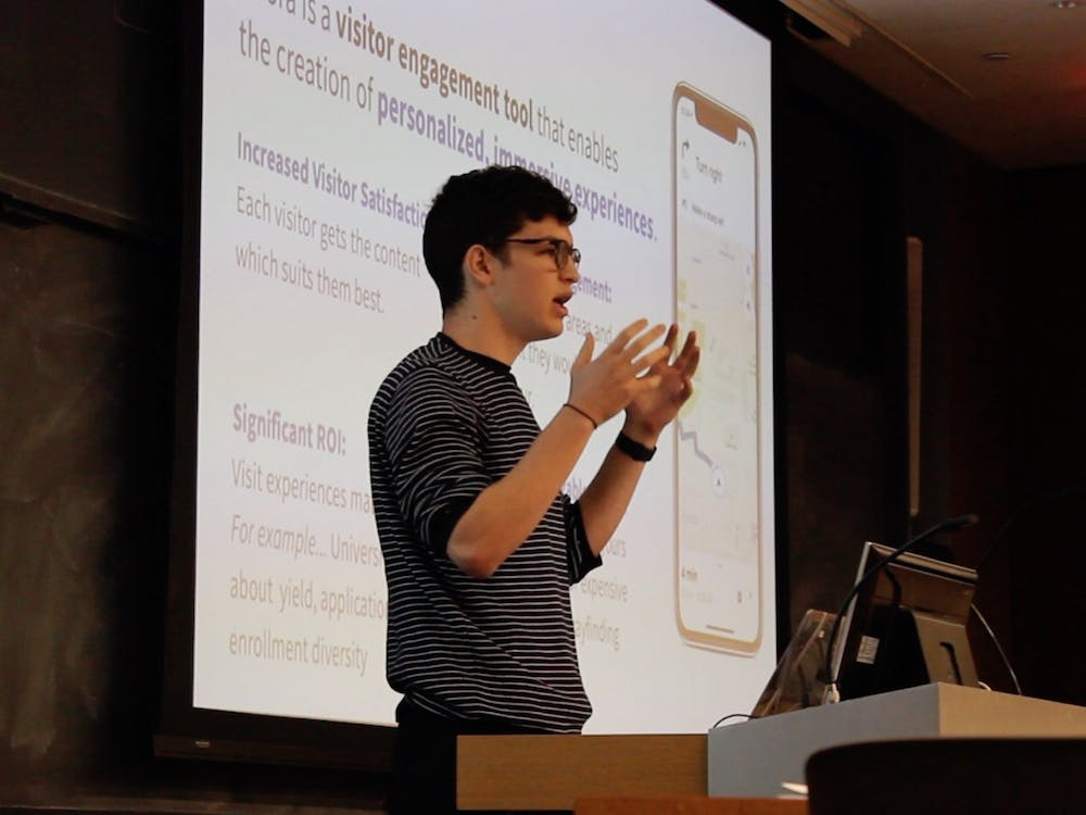 Ron Miasnik '22 is the CEO of Adora Experiences, which was awarded $6,000 for a self-guided tour app. Photo Courtesy of the Princeton E Club