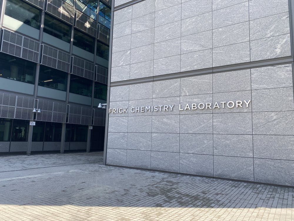 <h5>Frick Chemistry Laboratory, the home of Princeton's chemistry department.</h5> <h6>Zachary Shevin / The Daily Princetonian</h6>